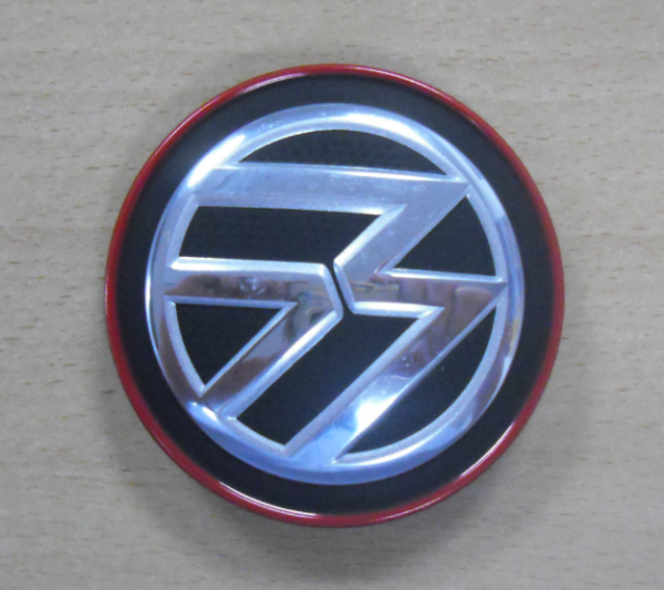 Original Volkswagen Nabendeckel Satz chrom rot VW Golf 7 VII Clubsport GTI NEU - 4 Stk