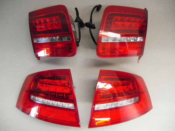 Audi A8 S8 4E D3 Original OEM LED Facelift Rückleuchten Heckleuchten SET