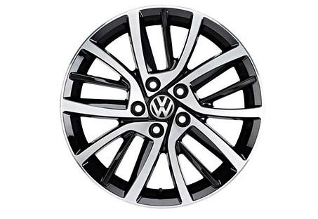 VW Alufelgen Blade 7 x 17 ET 49, glanzgedreht,Golf VI,Golf VII, 4 Stück