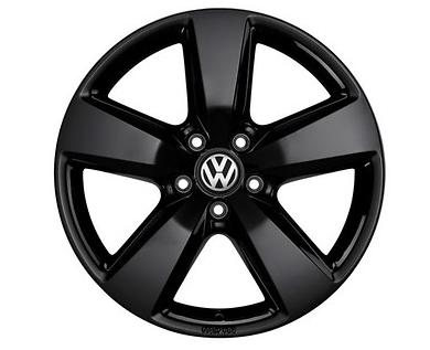 """Original VW Amarok Alufelge 19Zoll Design """"Aragonit"""" schwarz - 1Stück NEU"""