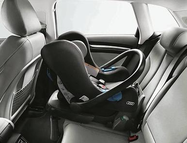 Audi Babyschale bis 13 kg, Titangrau/schwarz, Kindersitz Audi Original Zubehör