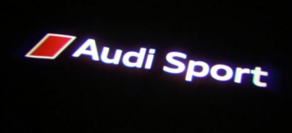 Original Audi Sport LED Einstiegsbeleuchtung Tür Logo -links/rechts
