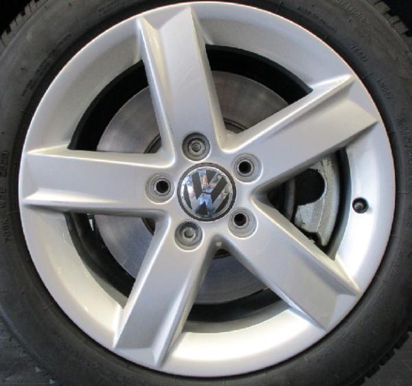 VW Alufelgen 16 Zoll 5-Arm Design silber Golf 5,6,7,8 - 4 Stück - NEU Aktionspreis