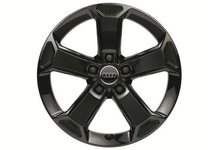 Audi Original Q2 Winterkomplettradsatz (4 Stk) 5-Arm-Design -17Zoll schwarz glänzend