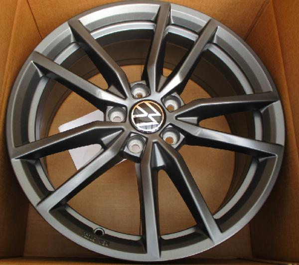 VW Golf 7/8 Pretoria Felgen schwarz matt Original Volkswagen 18 Zoll 4 Stück NEU - Aktionspreis