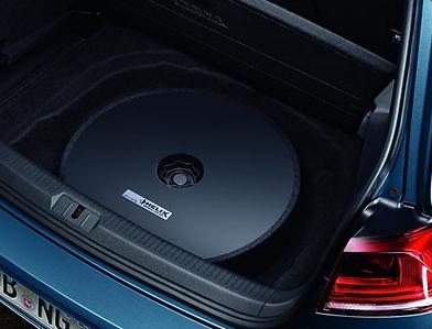 Volkswagen Plug & Play Soundsystem Reserveradmulde, 300W Sinus Golf 7