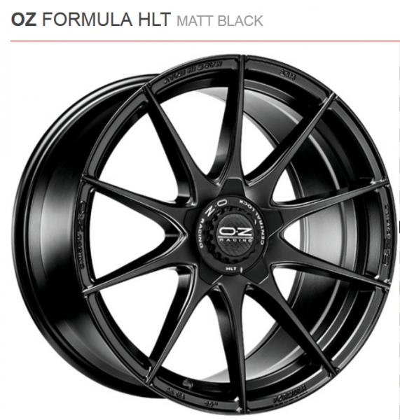 OZ Felgen Golf 7 VII R 300PS Formula HLT 8,5 x 19Zoll Matt Black (4 Stück)