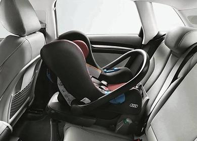Audi Babyschale bis 13 kg, misanorot/schwarz, Kindersitz Audi Original Zubehör