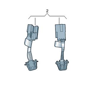 AUDI ORIGINAL A4 Avant B9 Adapterleitungssatz für LED-Heckleuchte Nachrüstung