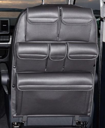 """UTILITY für Fahrer-/Beifahrersitz VW T6/T5 California Beach / Multivan, Design """"Leder Titanschwarz"""""""