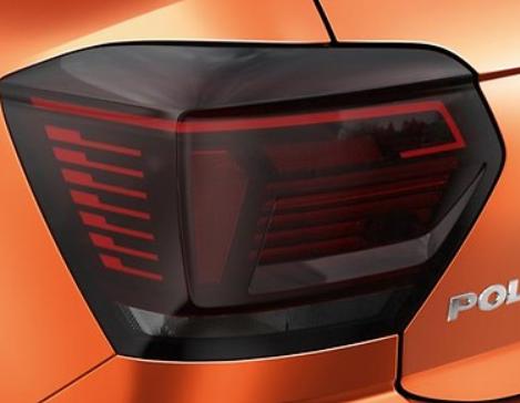 """Original VW POLO (MQB) LED-Rückleuchtensatz """"Blackline"""" NEU"""