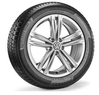 """VW Tiguan Alufelgen 18 Zoll Sterlingsilber neu Design """"Sebring"""" Silber- 4 Stück"""