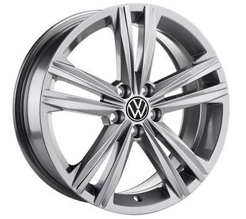 VW Polo! Alufelge Sebring 16 Zoll / grau metallic - 2G0071496A Z49 NEU!1 Stück