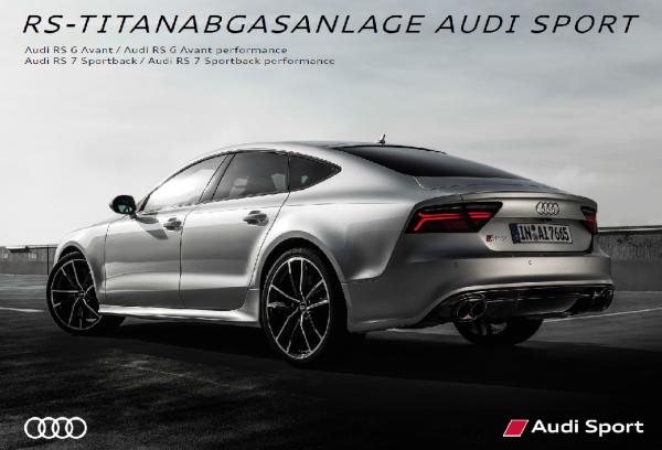 Original Audi Sport RS-Titanabgasanlage Akrapovic RS6 Avant 4G, RS7 Sportback