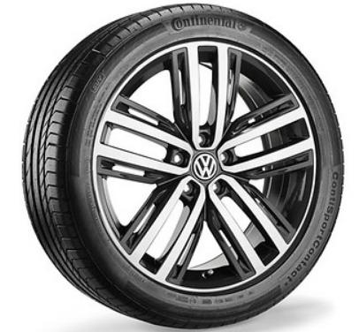 """VW Tiguan Alufelgen 19Zoll glanzgedreht neu Design """"Auckland"""" - 1 Stück"""