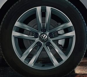 "Original Volkswagen VW Passat 7x17 Zoll Alu Felge Aluminiumfelge grau ""Salvador""1 Stk"