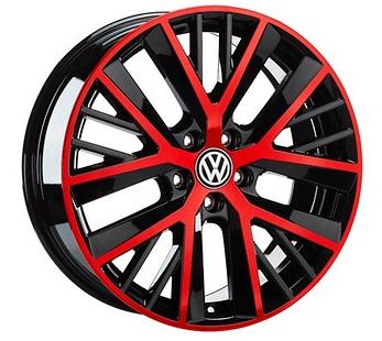 Original VW Alufelgen Twinspoke 19 Zoll schwarz/Rot Golf 7 Golf 7 Variant Golf 7 GTI - 1 Stück