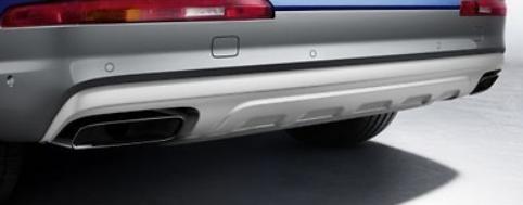 Original Audi Q7 (4M) Sport Endrohrblenden 3.0 TDI schwarz verchromt Exterieur