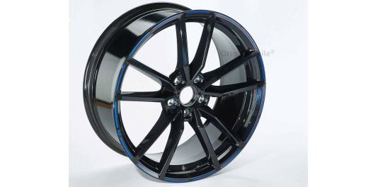 VW Golf 7 VII R Pretoria Felge schwarz / blauOrignal Volkswagen 19 Zoll 8x19 -1 Stück NEU
