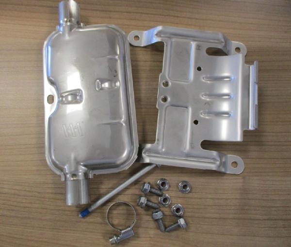 Eberspächer Abgasschalldämpfer Schalldämpfer 24mm , Halter usw. 221000400900 für Standheizung