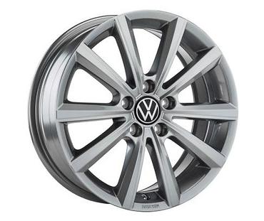 VW Polo! Alufelge Merano 16 Zoll / Adamatium Dark grau - 2G0071496 DM9 NEU!1 Stück