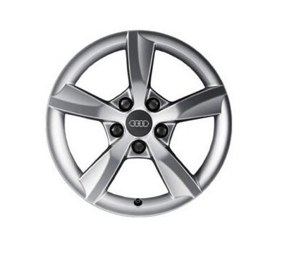 Original Audi A4 1 Stück Aluminium-Gussrad im 5-Arm-Rotor-Design 16Zoll 8K0071496A8Z8-Neu