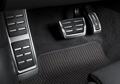 Original Audi Pedalkappen- Set aus Edelstahl, Audi A7 Modell 4G, Automatik