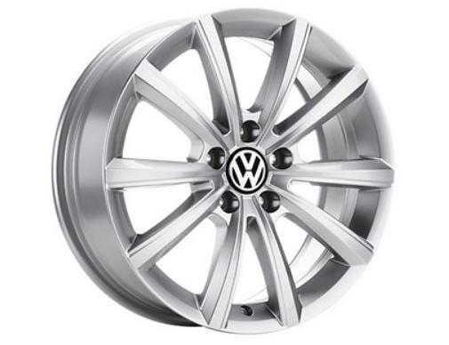 ORIGINAL VW Alufelgen Leichtmetallfelgen MERANO 7x17 VW T-ROC - 1 Stück