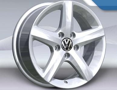 VW Caddy Alufelgen 15 Zoll - Design Aspen silber vom VW Partner (4 Stück)