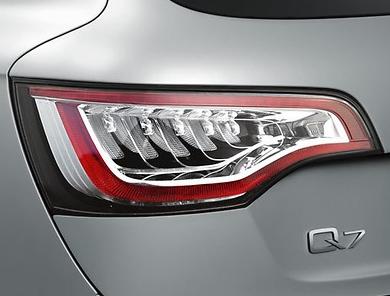 Audi Q7 Facelift original Rückleuchten LED Leuchten Heckleuchten Lampen weiß Typ 4L