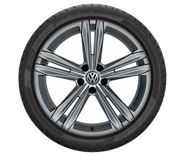 Original VW T-Roc Alufelge Sebring 18 Zoll Grau Metallic - NEU - 4 Stück