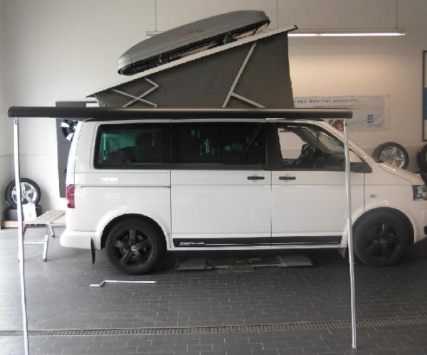 VW T5 T6 Bus California Beach Markise mit Anbauteilen Original wie ab Werk NEU