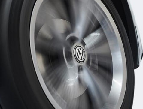 Original VW Radnabenkappen für Alufelgen dynamische Nabelkappen 4 Felgendeckel