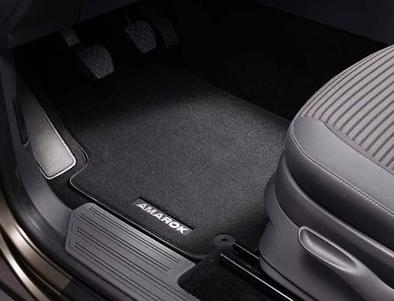 VW Original Zubehör Satz Textilfußmatte vorn & hinten Amarok 2H1061270 WGK