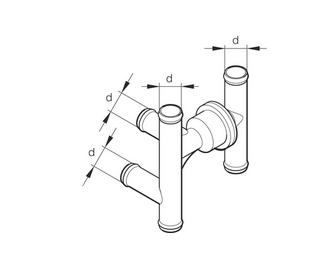 Standheizung Eberspächer Thermostat Abzweig 252014806200 Kombiventil 6 Anschlüsse
