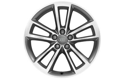 Original Audi A1 Alufelgen Sommer 17 Zoll im 5-Cavo-Speichen Design (Satz 4 Speichen)