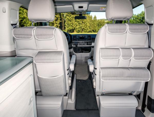 "UTILITY für Fahrer-/Beifahrersitz VW T6 California Ocean, Design ""Visitamo/Leder Moonrock"""