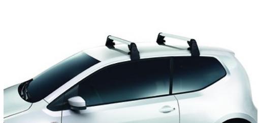 Original Volkswagen Satz Grundträger Dachgepäckträger VW UP - 4 Türig - Neu