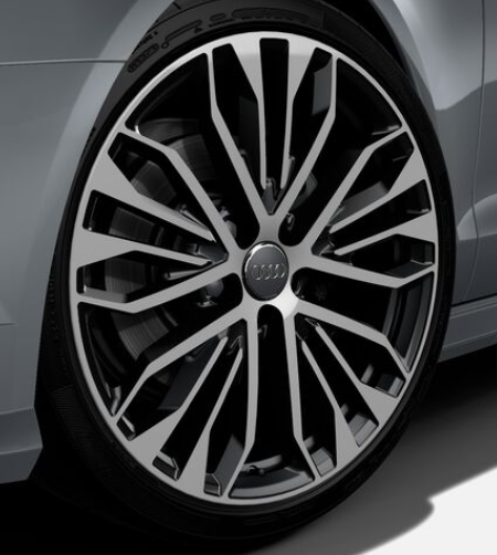 Original Audi A6 4G Felge 20 Zoll / 8,5Jx20 ET 45 4G0601025CR poliert/schwarz NEU - 1Stück