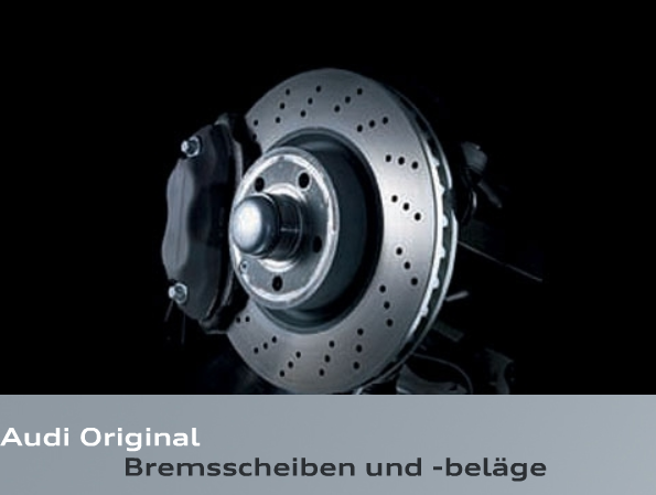 Original Audi RS5 RS 5 S5 gelochte Bremsscheiben 330 x 22 mm Bremse S4 8K RS5