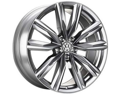 """VW Tiguan Alufelgen 20 Zoll Galvanograu Metallic neu im Design """"Kapstadt""""- 1 Stück"""
