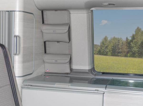 """UTILITY Aufbewahrungstaschen für """"Schrankfenster"""" VW T6/T5 California"""