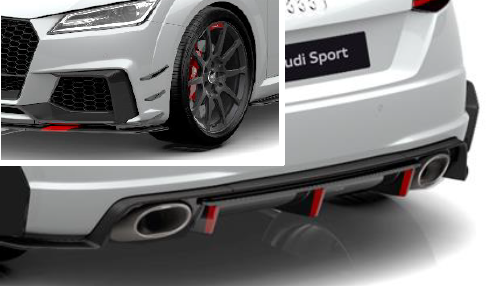 Audi Sport TT,TTS,TTRS Performance Aerokit Carbon / schwarz glänzend (Variante 2)