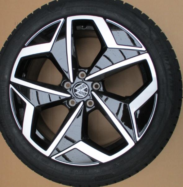 VW ORIGINAL ID.3 Winterkomplettradsatz 19 Zoll Andoya Felge schwarz mit Goodyear Reifen