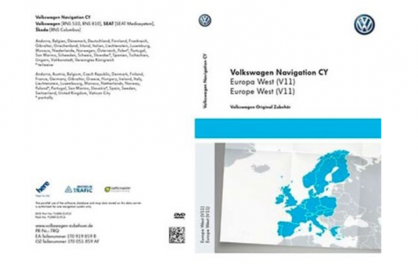 Original VW Navigation DVD Navi Update Europa West V14 RNS 510 RNS 810 neu 2017!