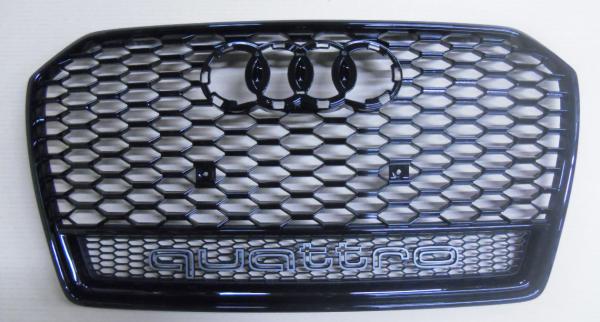 Audi Original RS6 4G Kühlergrill quattro schwarz glänzend 4G0853651BDT94