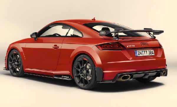 Audi Sport TTRS Performance Luftleit Element hinten links und rechts glanz schwarz