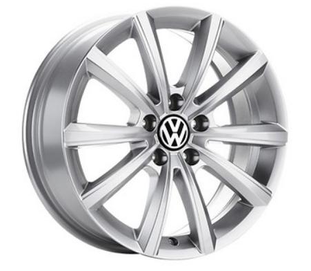 "VW Tiguan Alufelge 17 Zoll Brillantsilber neu Design ""Merano"" - 1 Stück"