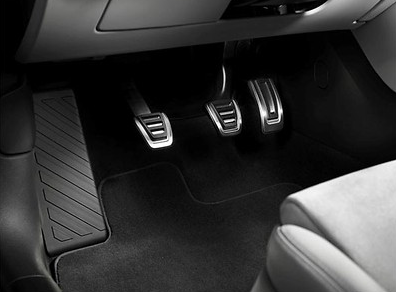 Original Audi Pedalkappen-Set aus Edelstahl,Audi A1PA,Schaltgetriebe