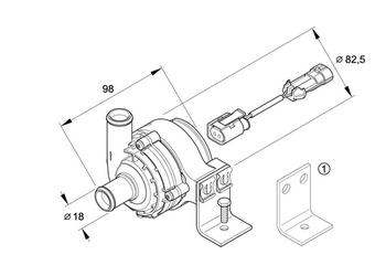 Standheizung Eberspächer Wasserpumpe Umwälzpumpe 25221727 B4WS D4WS D5WS B5WS